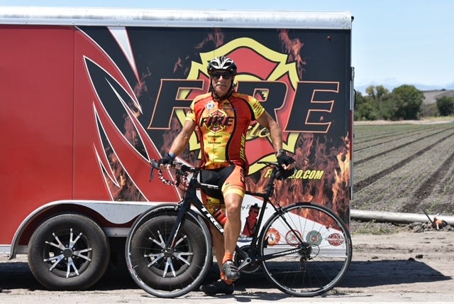 Steve Winter, a former battalion chief with the Ventura County Fire Department, will participate in a cross-country charity ride to New York City in time for the 20th anniversary of September 11.