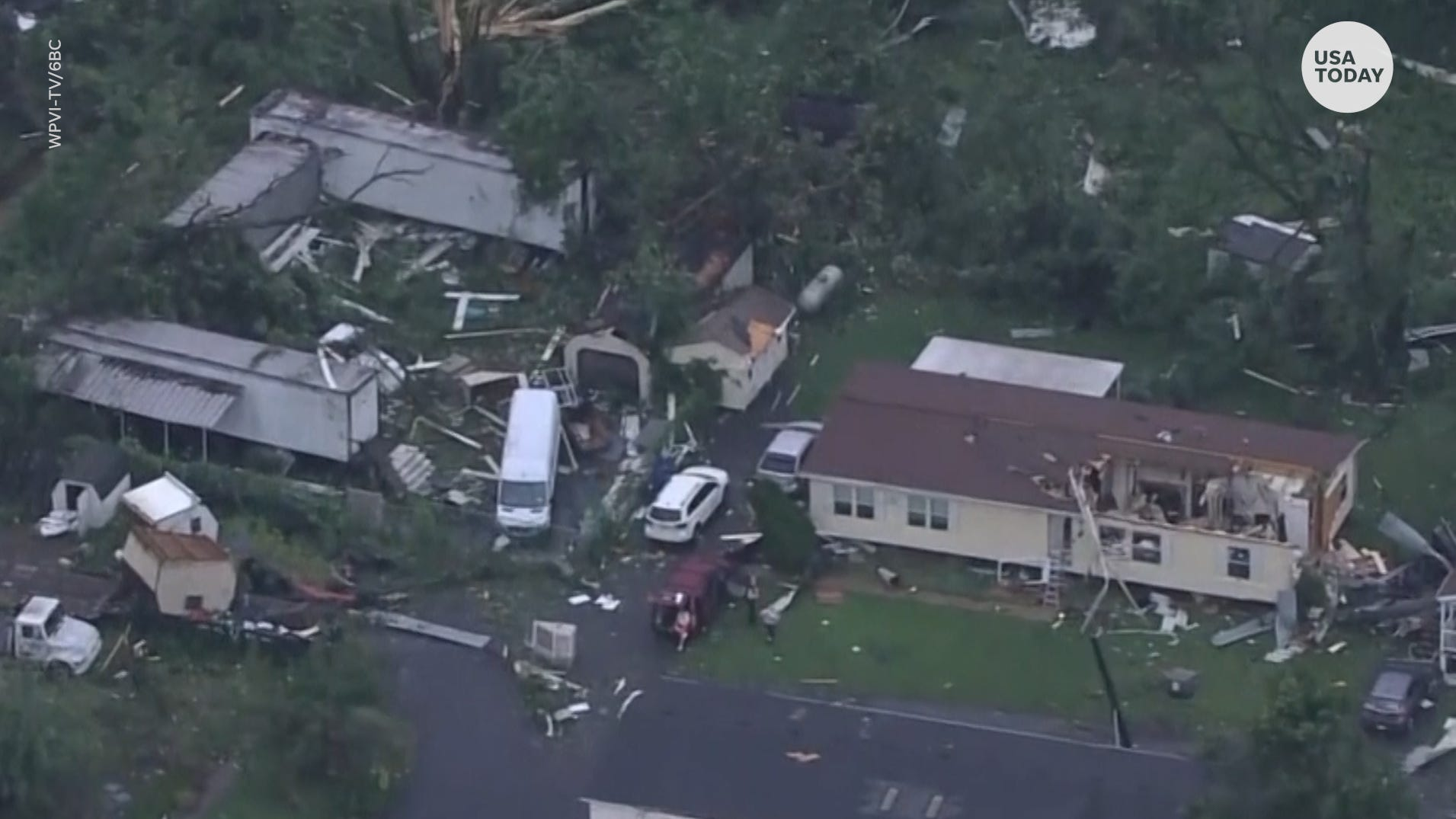 Tornadoes touched down in parts of the eastern U.S. causing major damage and injuries