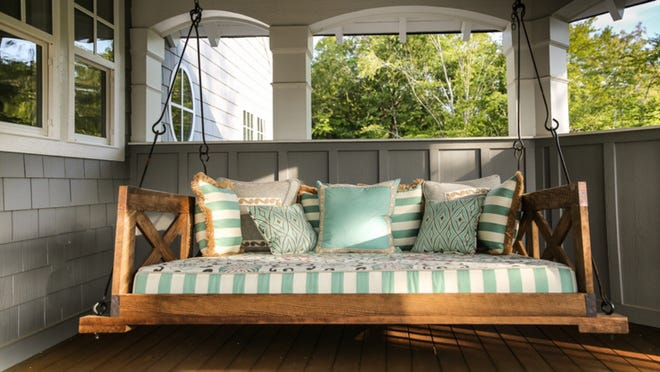 Got a new porch swing? Here's how to hang it up