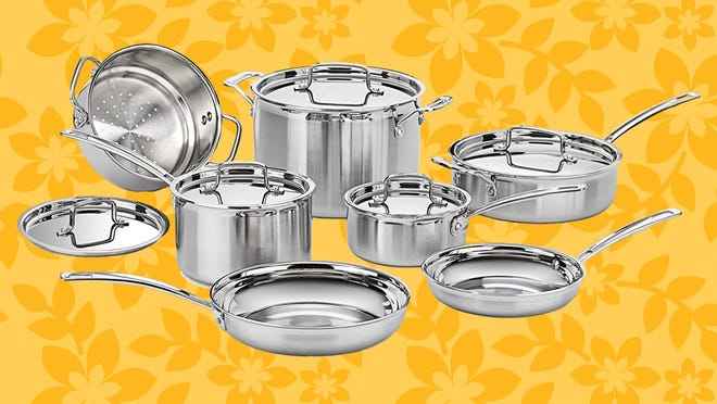 This 12-piece Multiclad cookware set is our pick for best affordable cookware set—and right now you can get it an additional $60 off at Macy's.