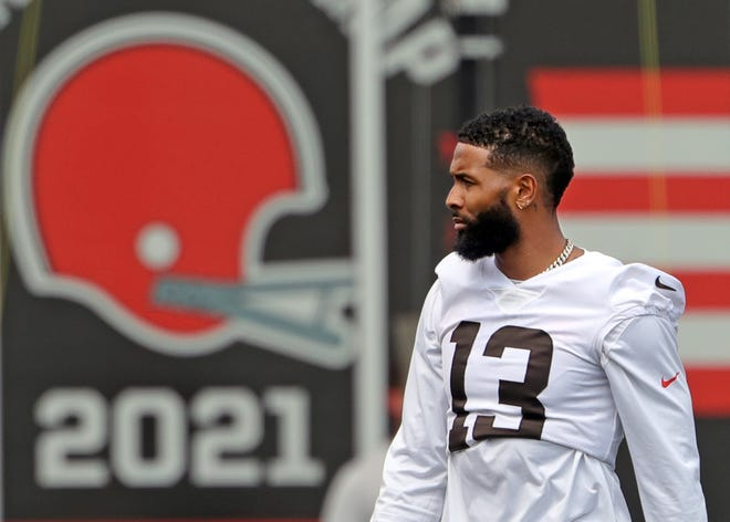 Browns receiver Odell Beckham Jr. has impressed teammates with his return from knee surgery.