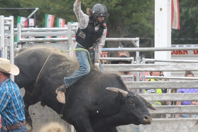 The Super Kicker Rodeo entertained spectators at the Ottawa County Fair on Friday
