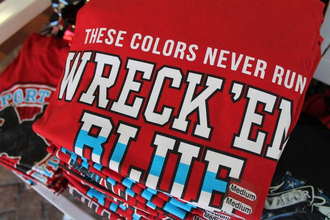Texas Tech apparel of all sorts are popular choices at Red Raider Outfitter and other Lubbock spirit shops.