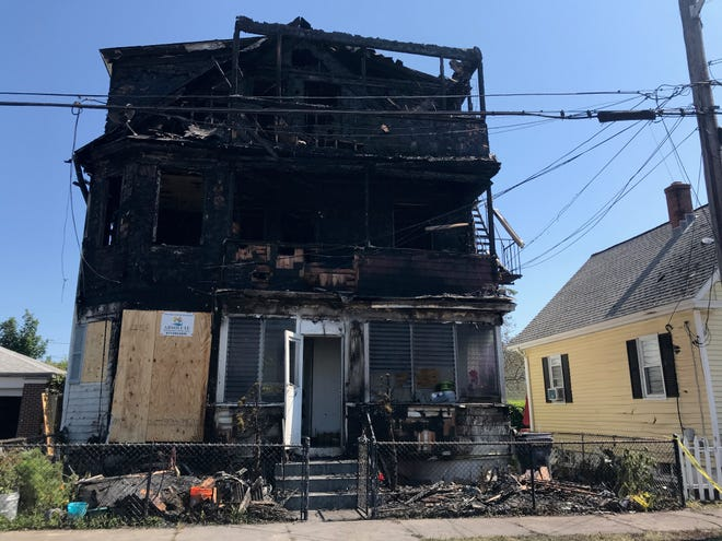 A multifamily house on Simmons Street in Providence was heavily damaged by fire Friday night.