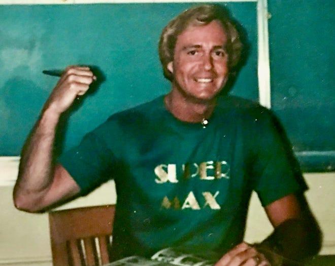 Legendary Ridgecrest math teacher Gary Maxwell is seen in the classroom at James Monroe Jr. High.