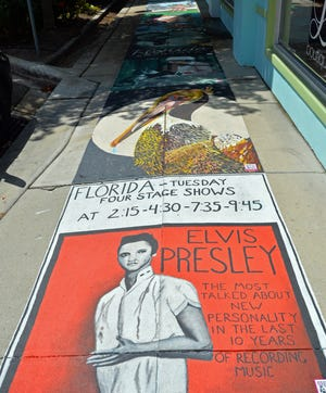 The Chalk Festival Avenue of Art, located along Pineapple Avenue, between its intersection with South Orange Avenue and the Ringling Boulevard roundabout, may be expanded this fall, as a possible replacement for the Chalk Festival at the Venice Municipal Airport, which is being postponed until April because of COVID-19 social distancing concerns.