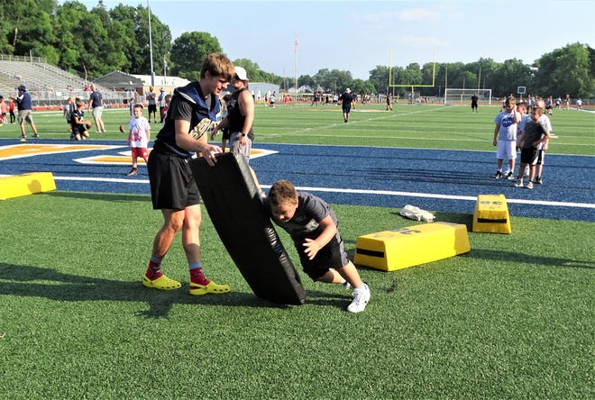 The Lancaster Gales Youth football Camp was held Friday night at Fulton Field.