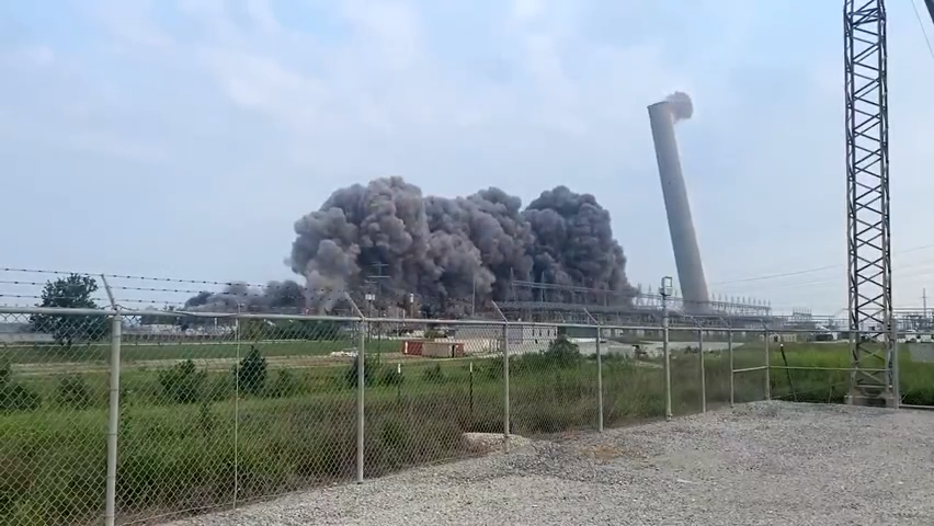 See TVA implosion at coal plant in New Johnsonville