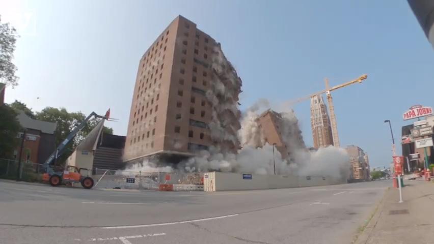 Watch Vanderbilt's Carmichael Towers implode on West End