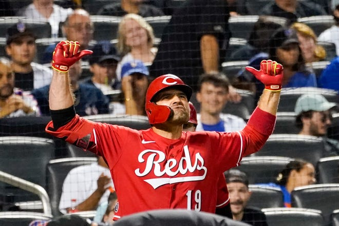 Boosted by the hot hitting of first baseman Joey Votto, the Reds have rallied into playoff contention from a 24-29 record on June 1.