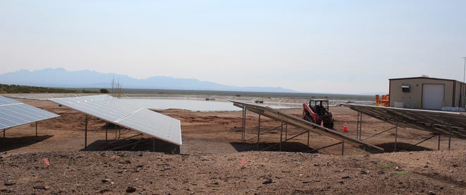 Wide open spaces at the West Mesa Industrial Park Wastewater Treatment Facility served well for a new photovoltaic arrays site that will enable the City to reach 89% of its clean energy goals by 2022.