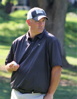 Jim Garner captured his first Lebanon County Senior Amateur title on Friday, outlasting good friend Dan Brown in a three-hole playoff at Lebanon Country Club.