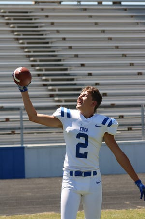 Eden High School's Kaleb Tinney has been a top receiver in West Texas for two seasons. He goes into the 2021 season as one of the Bulldogs' top returners.