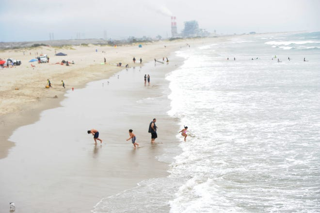 The city of Port Hueneme is trying to change its name from Port Hueneme to Hueneme Beach On Friday, July 30, 2021 visitors to the beach enjoyed the water.