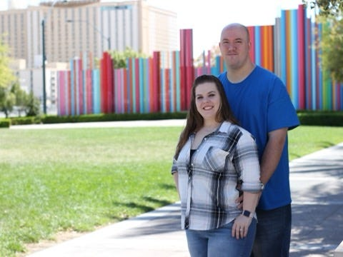 Jessica DuPreez et Micheal Freedy au Smiths Center for the Performing Arts à Las Vegas, Nevada.