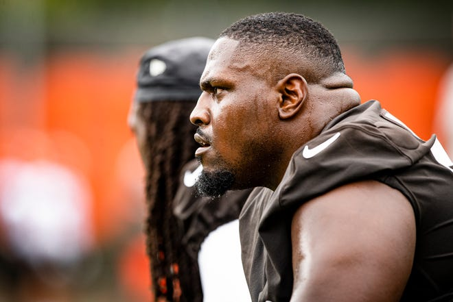 Defensive tackle Andrew Billings during the second day of Browns training camp
