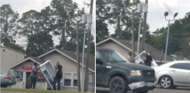 An Ascension Parish deputy was spotted assisting an elderly man in Gonzales.