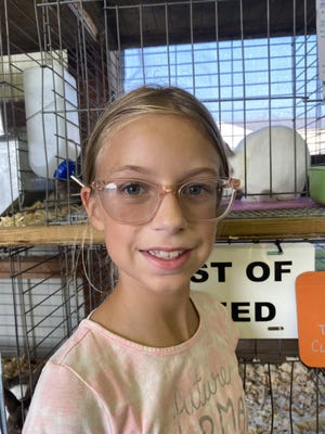 In her first year of showing 4-H bunnies, Michaela Setzler, 11, of LaSalle had the reserve champion of fryers in the annual 4-H Rabbit Show at the Monroe County Fair Saturday.