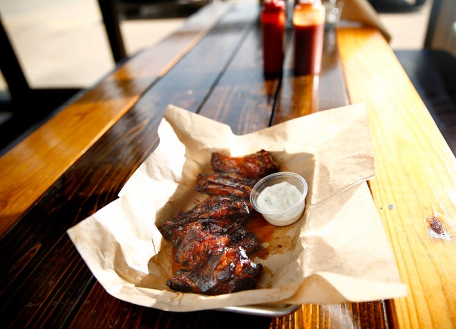 Hot Wingz are seen recently at the Cornish Smokehouse in Oklahoma City.