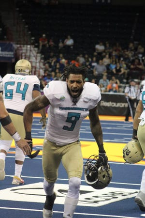 Santos Ramirez forced a fumble and recovered another to help the Massachusetts Pirates defeat the Spokane Shock on Saturday.
