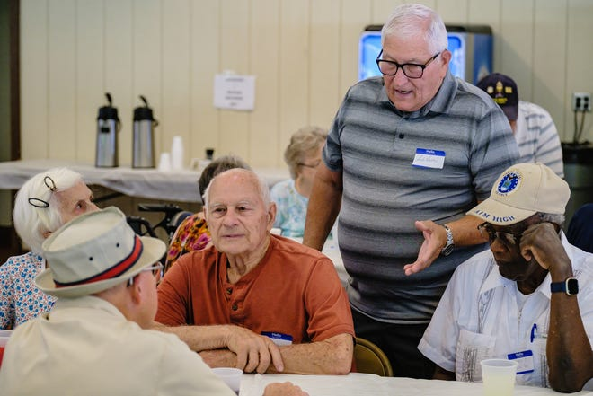 People who grew up playing together on Uhrichsville's Westside gathered for a reunion Saturday at Tuscora Park in New Philadelphia.