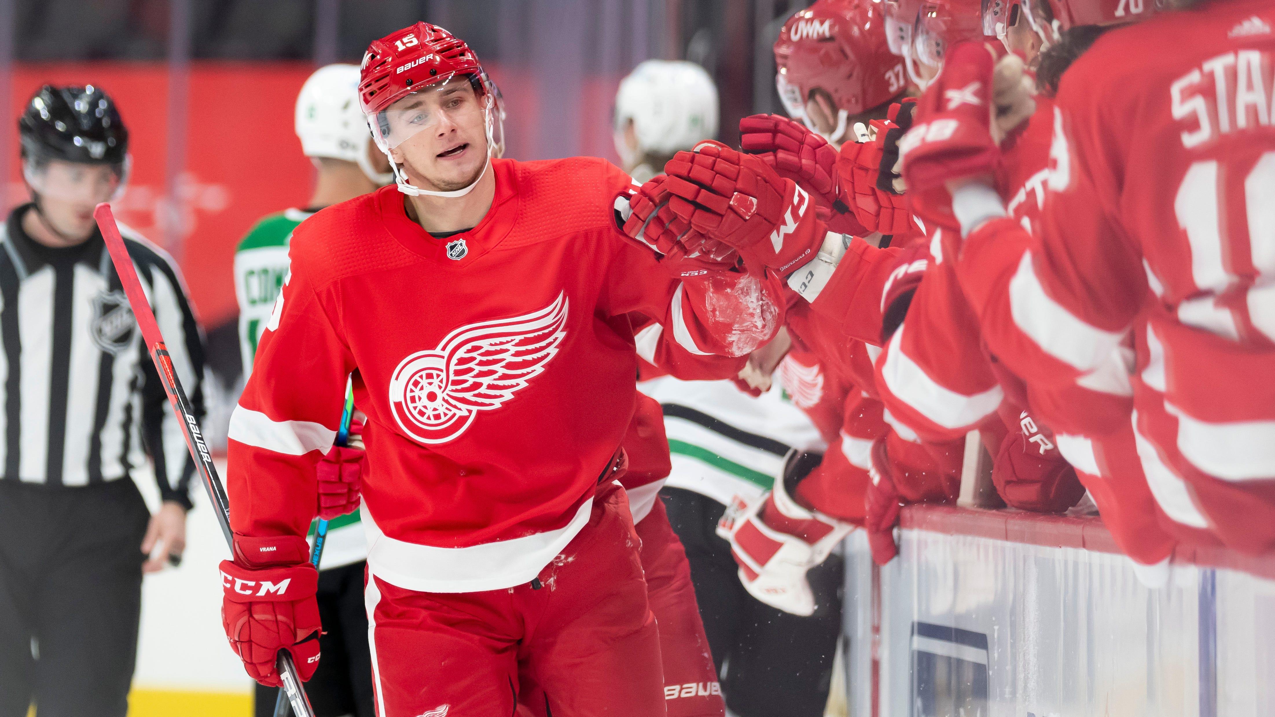 Red Wings' Jakub Vrana, Adam Erne file for salary arbitration