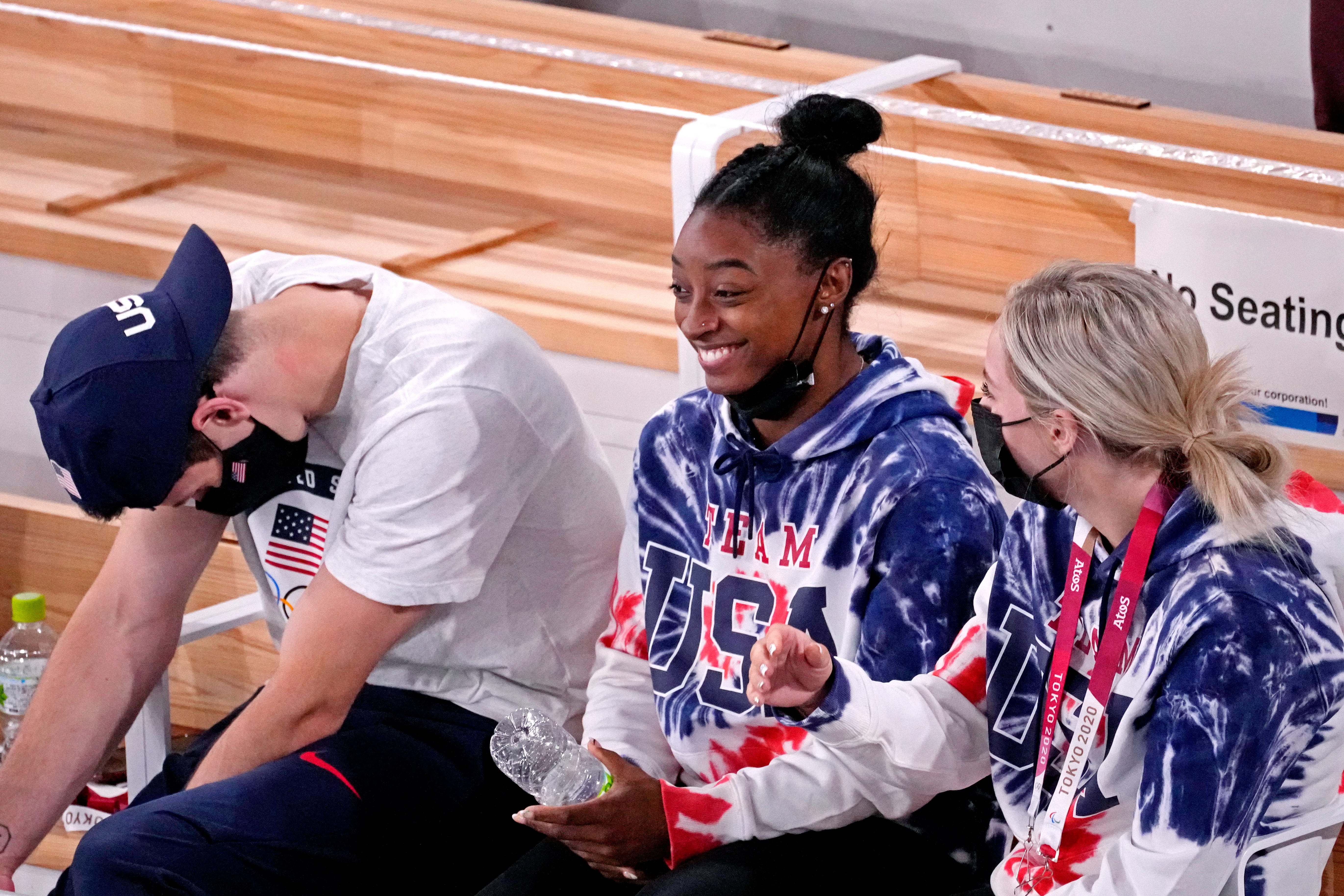 Simone Biles withdraws from floor exercise final at Olympics; status for balance beam unclear