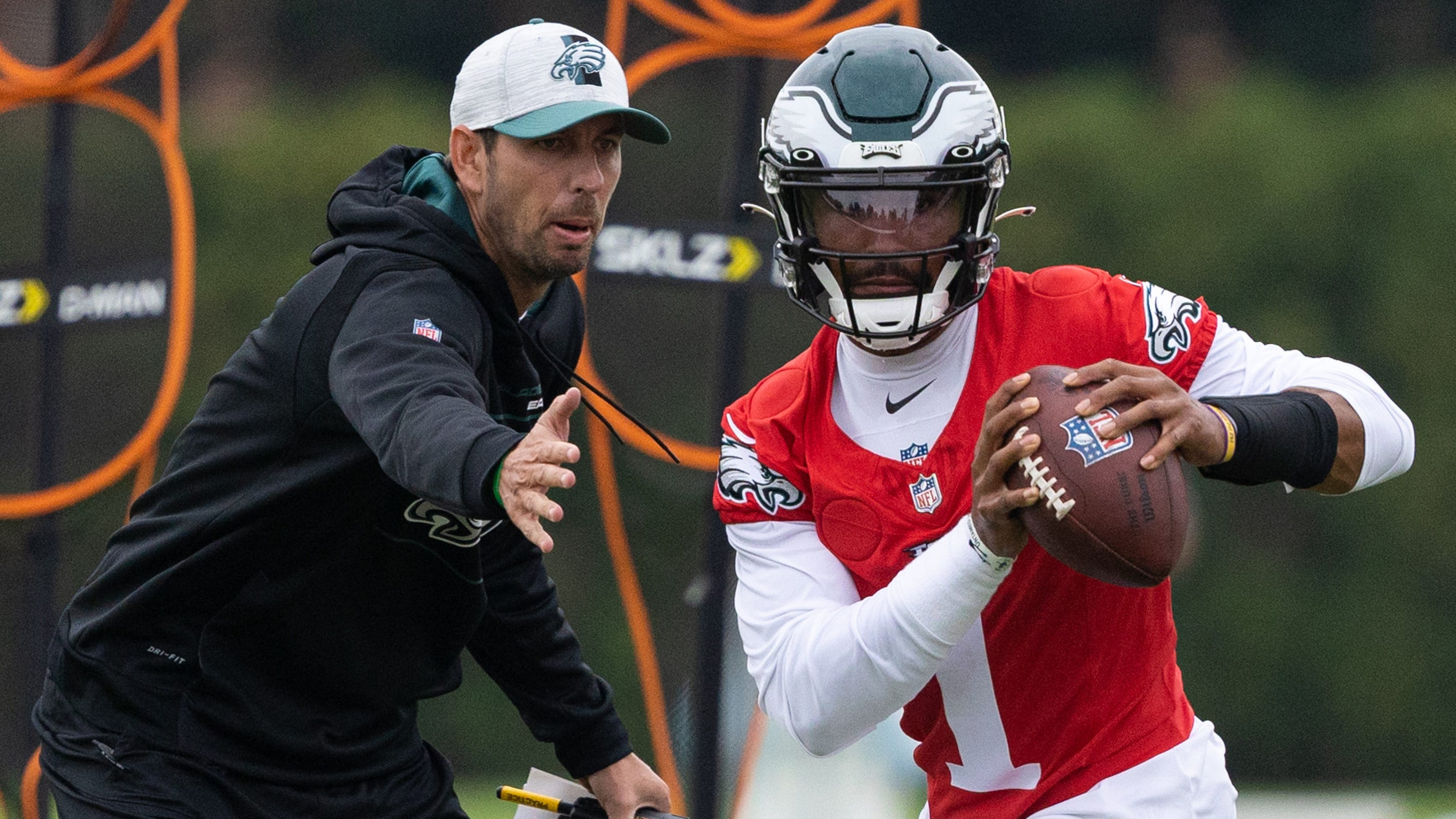 QB Jalen Hurts already impressing new Philly coach with 'big-time throws': Eagles notebook
