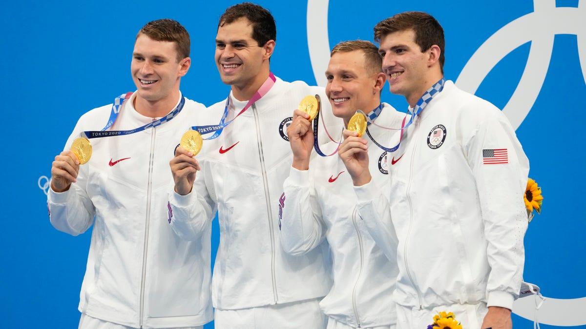 Tokyo Olympics while you were sleeping: Swimmer Caeleb Dressel leads U.S. to golden finish; Xander Schauffele wins golf gold