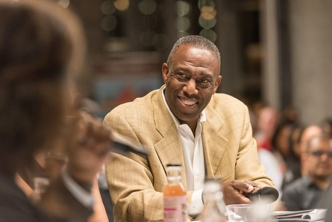 Preston James II, co-founder and CEO of Austin-based DivInc, takes part in a pitch event for African-American entrepreneurs in this file photo.
