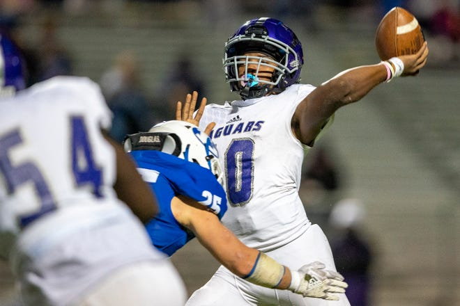 The LBJ football team should be a playoff contender again. Coach Jahmal Fenner is enthusiastic about the return of quarterback Oscar Gordon, pictured here during a game against Lampasas last year.