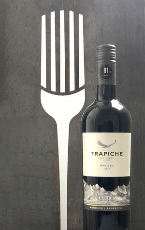 Trapiche Malbec from Argentina is made with grapes from the foothills of the Andes Mountains.