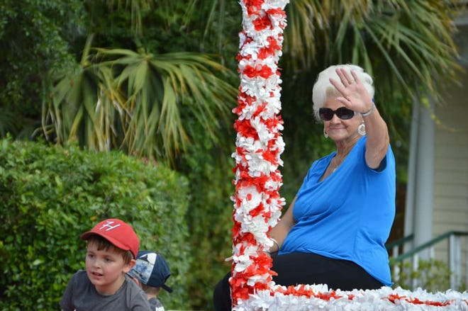Frances Terry waves to onlookers during a recent Hampton County Watermelon Festival Parade.