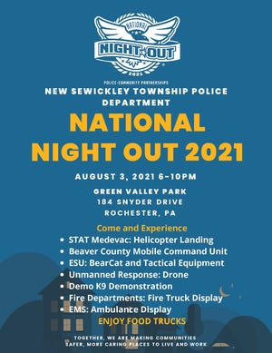 New Sewickley Township Police host annual National Night Out event Aug. 3.