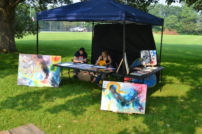 The Fulton County Arts hosted its first Art Gathering  Saturday, July 31 at Big Creek Park in Canton. More than 15 artists were set up at the park.