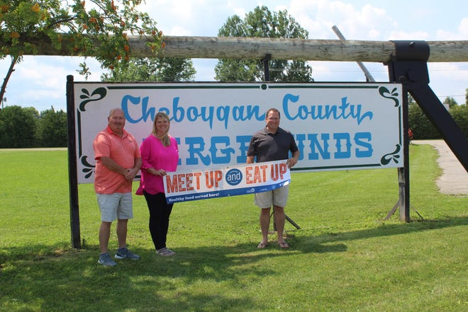 The Cheboygan County Fair, Compass Academy and Cheboygan Area Schools are teaming up this year to once again offer free, nutritious meals to children who are attending the Cheboygan County Fair. Cheboygan County Fair Manager Dan O'Henley, Compass Academy Director Megan Fenlon and Cheboygan Area Schools Food Services Director John Galacz are excited to bring this program back to the fair.