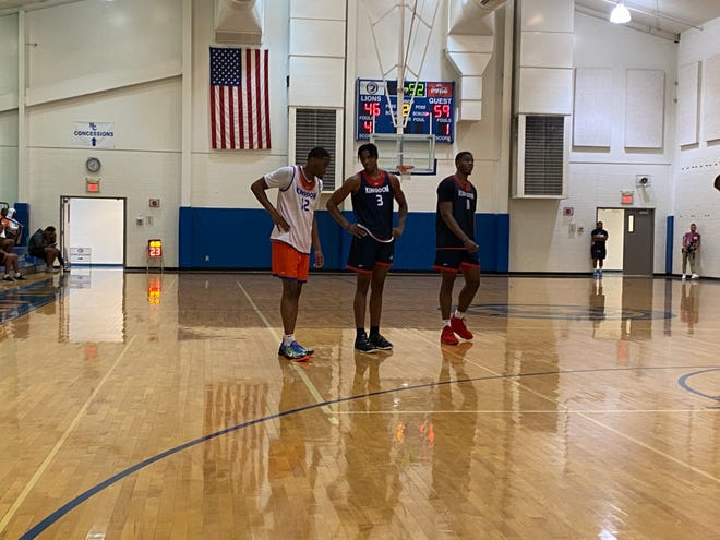 Buckeyes (from left to right) Malaki Branham, Gene Brown and E.J. Liddell all had big games Sunday in the Kingdom Summer League at Northside Christian School.