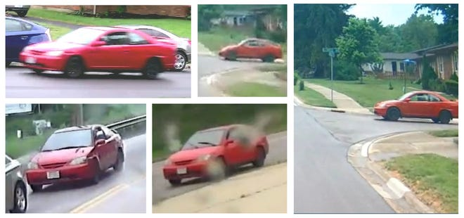 The Westerville Division of Police is looking for the owner of this red Honda Civic in connection with the death of Westerville man.