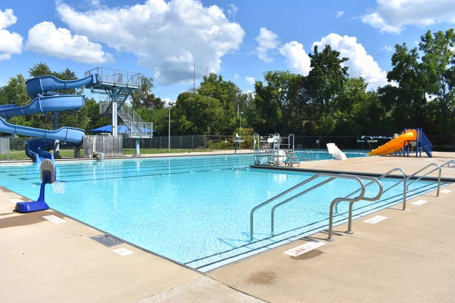 Bohn Pool's swimming area in Adrian is pictured Monday afternoon. In recent weeks, the pool and its future in Adrian have become a regular discussion point of the Adrian City Commission.  The pool's season got off to a slow start this summer because of structural and mechanical issues.