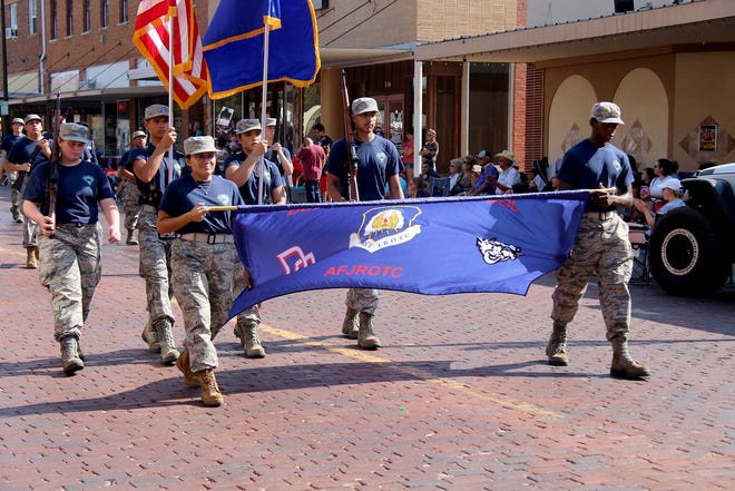 The Dodge City High School JROTC took first place in the youth division for the 61st Dodge City Days Western Parade held on Saturday.