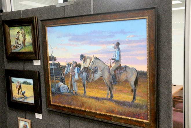 Jim Clements of El Dorado, is the featured artist at the 28th annual Landmark National Bank Art Show, going on now through Aug. 6 in Dodge City. Clements specializes in oil paintings of the American West.