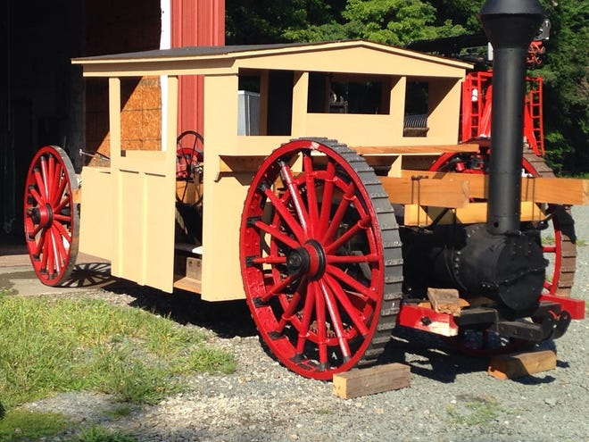 The 1888 Spencer Steam Tractor, recently restored by the Wayne County Historical Society, is expected to be displayed at the annual Local History Festival resuming September 25 at the Dorflinger Factory Museum in White Mills. / WCHS photo