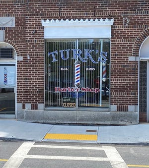 Turk's Barber Shop today at 43 Pleasant St. in Gardner.