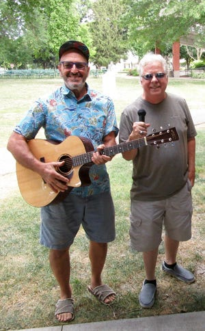 """John Puentes, left, and Mike Prenevost, also known as """"John & Mike,"""" will provide early rock/swing music at the Henry County Democrats ice cream social from 5 to 8 p.m. on Tuesday, Aug. 10, in Geneseo City Park. In addition to music, the event will include """"sloppy jo"""" sandwiches, hot dogs, chips, ice cream and desserts. JoAnne Hillman, secretary of the Henry County Democrats, said, """"Everyone is welcome, whether they are Democrat, Republican, Independent or undecided. We want Henry County to show Springfield and Washington that here, in our area, we can all come together for some music, food and fun and get along. That's why there will be no political speeches from candidates at this event."""""""