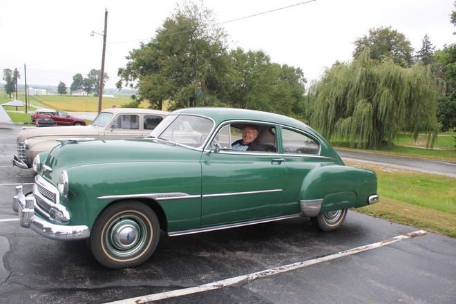"""Dewey Young and his 1951 Chevy Fleetline won the """"oldest participant"""" award at the 2019 Cruise-In held at Countryside Christian Church, 3817 230th St. North in Port Byron. The church congregation will host the 9th Annual Cruise-In from 11 a.m. to 3 p.m. on Saturday, Aug. 21. The Cruise-In is a family event and includes a bounce house and other activities for children. Food will be available and everything is free, although donations will be accepted to benefit the Riverdale School District. Dash plaques will be given to the first 50 cars and awards will be given to the oldest vehicle and the oldest participant. Anything on wheels is welcome to the event."""