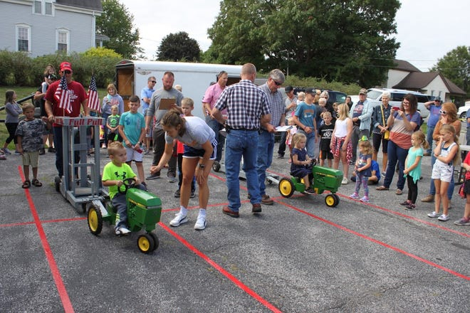 One of the highlights of Orion Fall Festival is the children's pedal tractor pull. This year's contest is at 10:30 a.m. Saturday, Sept. 4, at the parking lot at Kirk, Huggins and Esterdahl Funeral Home.