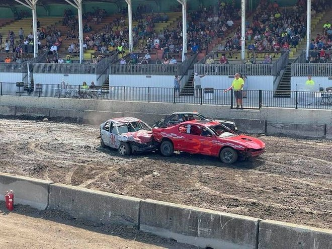The Hillsdale County Fairgrounds held its first-ever 'Wheeled Weekend' event Friday and Saturday at the Grandstands drawing in a crowd of 600 Friday night and 1,000 spectators Saturday for a demolition derby.