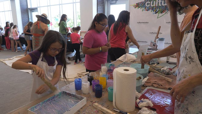 Kids can make art inspired by art practices from around the globe at this year's International Festival of Holland, Aug. 21, 2021.