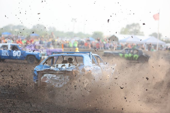 There were 43 cars entered in the 2021 Harvey County Fair Demolition Derby this year. For more images by Michele Clark, visit thekansan.com.