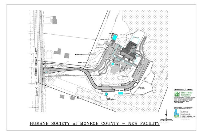 A map of the new home for the Humane Society of Monroe County